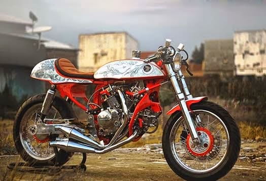 Modifikasi Honda GL100 Cafe Racer