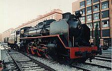 Loc. de vapor Mikado de gran potrncia, utilizada por Renfe.