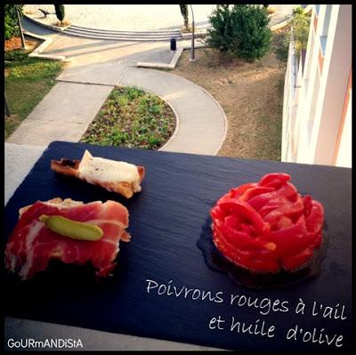 photo 1 JOUR = 1 SALADE *** : Poivrons grillés à l'ail et huile d'olive