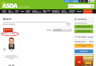 Missing search results on Asda