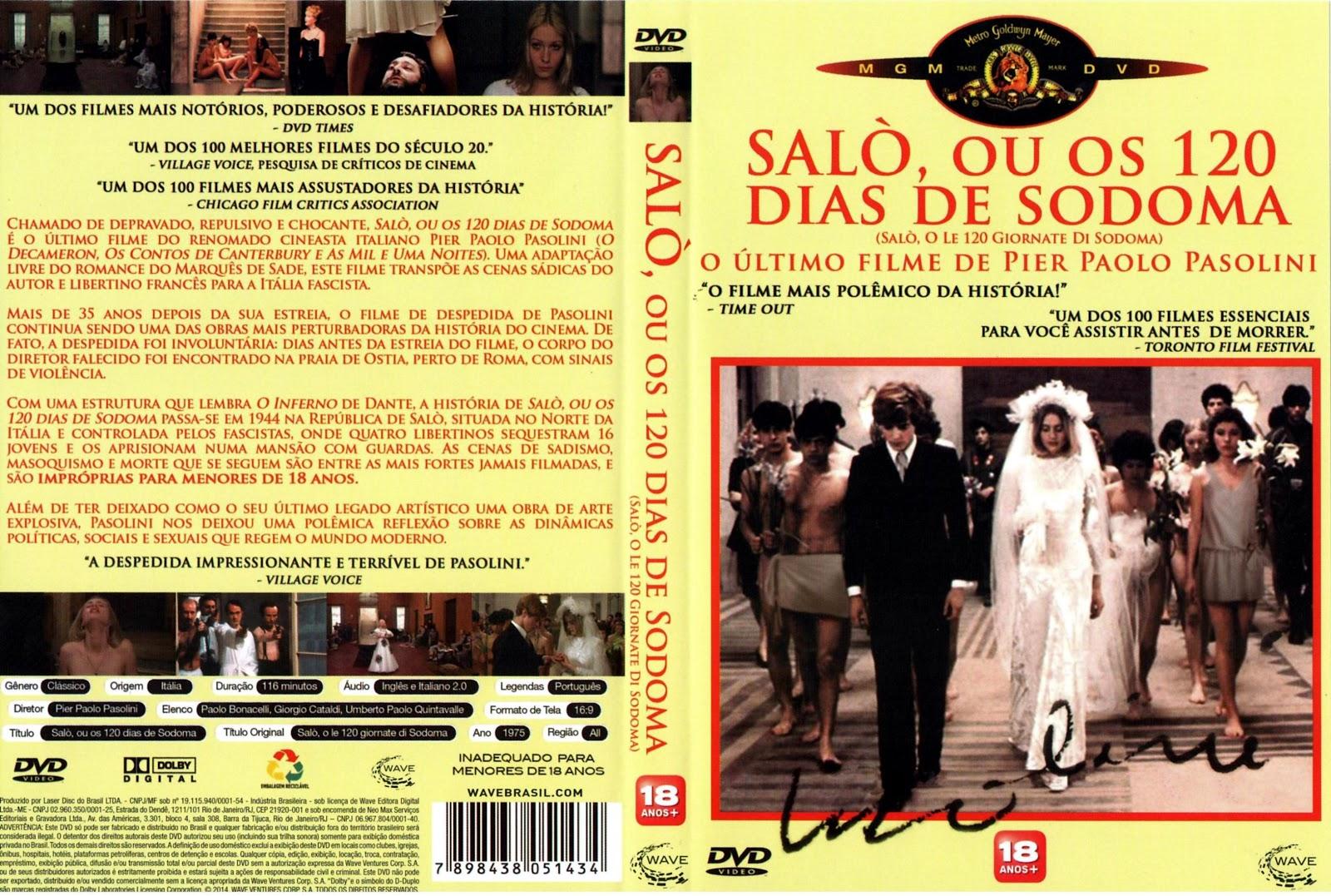 Capa DVD Salò ou os 120 Dias De Sodoma