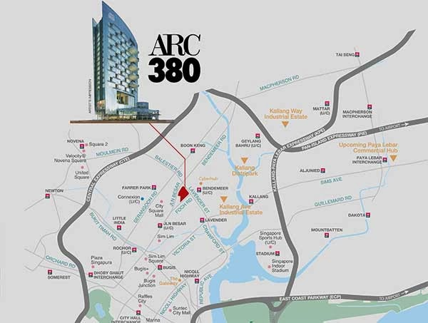 ARC 380 Location map