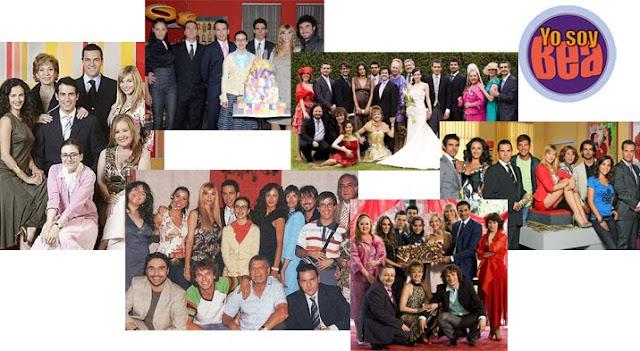 Diferentes fotos de grupo del reparto de Yo soy Bea