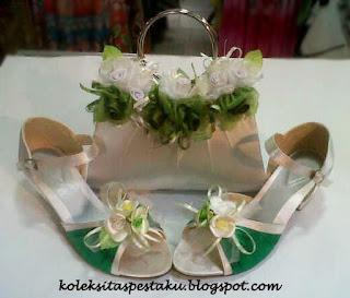 Tas Pesta Putih Ijo Mewah dan Cantik