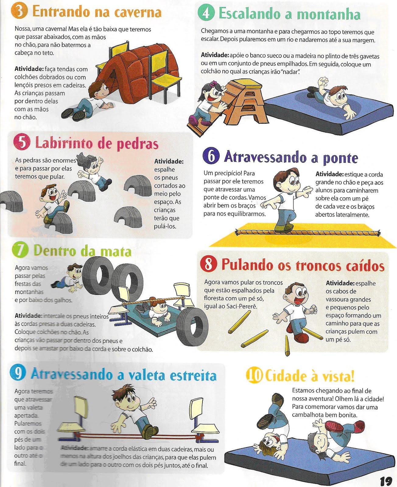 Fabuloso O mundo encantado da educação infantil: Atividades psicomotoras na  MA21