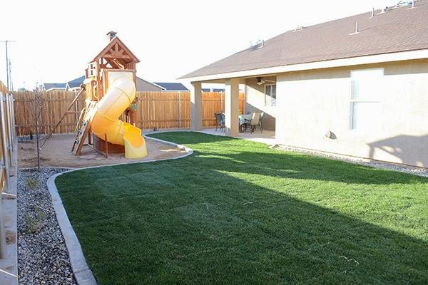 Backyard from Medley of Golden Days Blog
