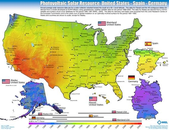 Random Policy Siting Solar Power Plants - Us cloud cover map