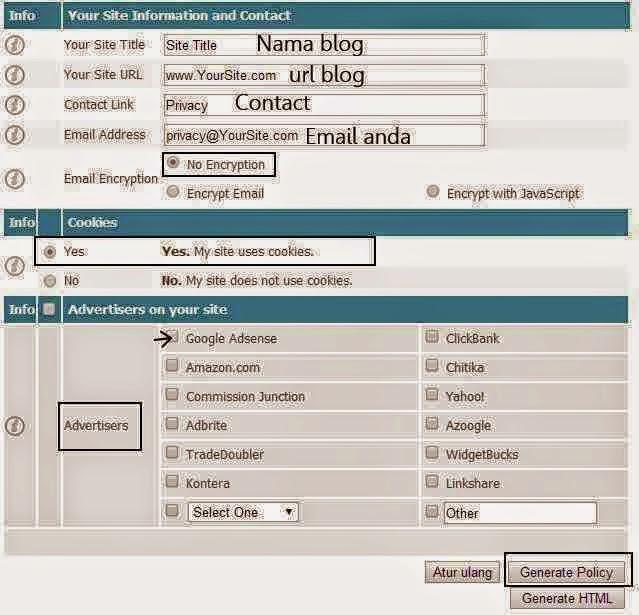 Tips Cara Membuat Privacy Policy di Blog Dengan Mudah