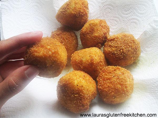 Gluten free fried Potato Balls