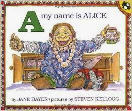 http://www.amazon.com/Name-Alice-Picture-Puffin-Books/dp/0140546685/ref=sr_1_9?ie=UTF8&qid=1430177952&sr=8-9&keywords=alliteration