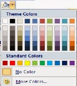 Jenis warna ikon shading