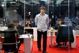 Échecs à Bilbao : le Norvégien Magnus Carlsen - photo site officiel