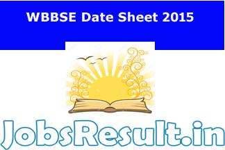 WBBSE Date Sheet 2015