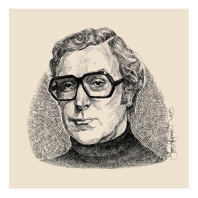 young Michael Caine wearing cool glasses