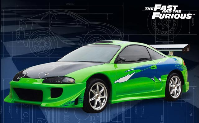this car was used in fast and furious 2001 - Mitsubishi Eclipse Fast And Furious Wallpaper