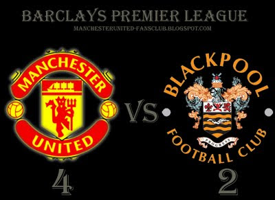 Manchester United vs Blackpool Barclays Premier League Result