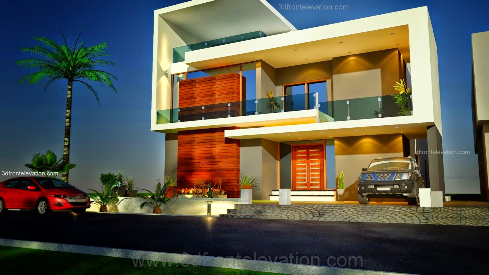 3d front beautiful pakistani 1 kanal modern for Pakistani homes design