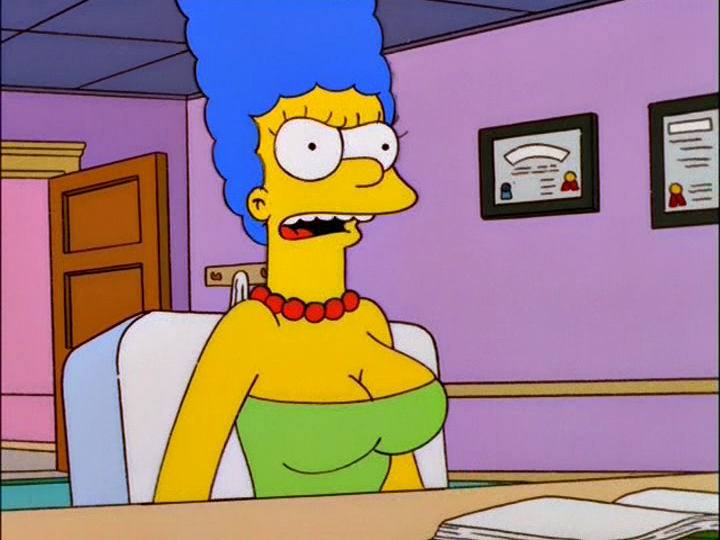 marge simpson with bog breasts encountered that
