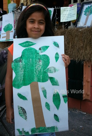 Newspaper Tree Kids Craft Earth Day Arbor's Day