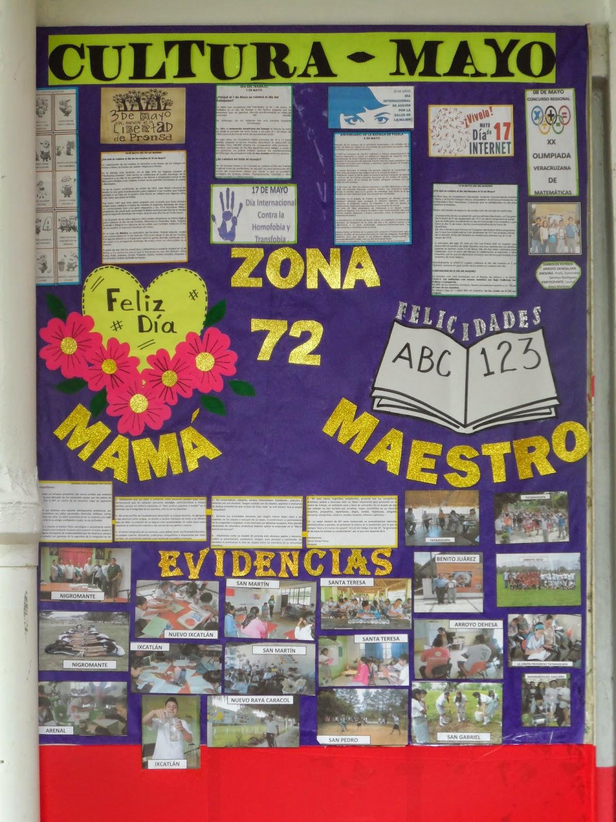 Supervisi n escolar zona 72 telesecundarias playa vicente for El periodico mural