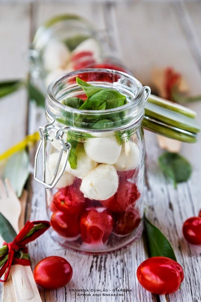 Caprese Salad In A Jar   Healthy Salad In A Jar Recipes
