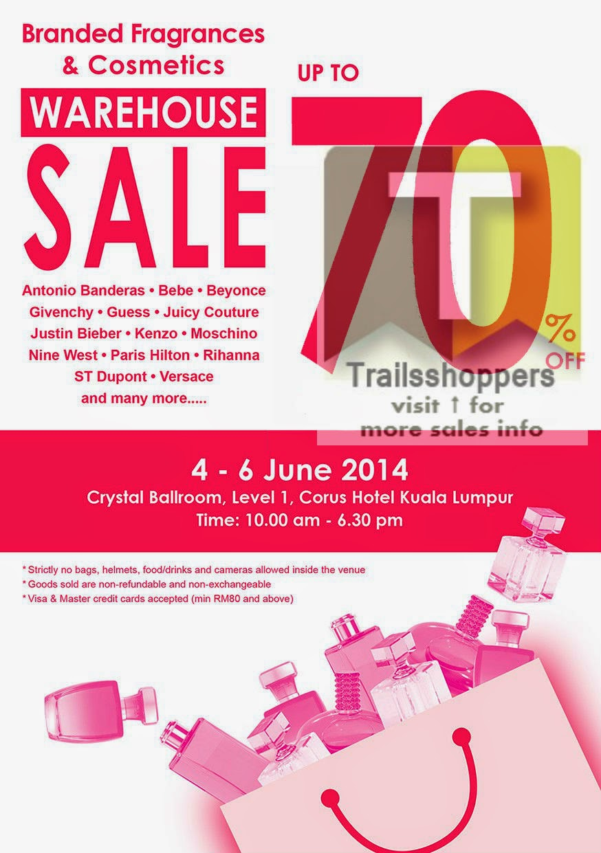 Branded Fragrances & Cosmetics Warehouse Sale 2014 Corus Hotel KL