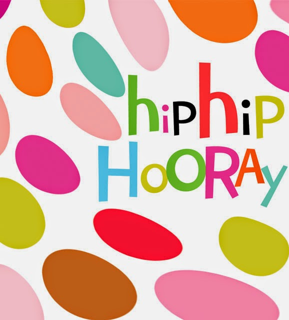 dots bright colourful summer hip hip hooray new birthday greeting cards designers Liz and Pip Ltd