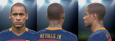 PES 2016 Neymar New Hairstyle by UDJ