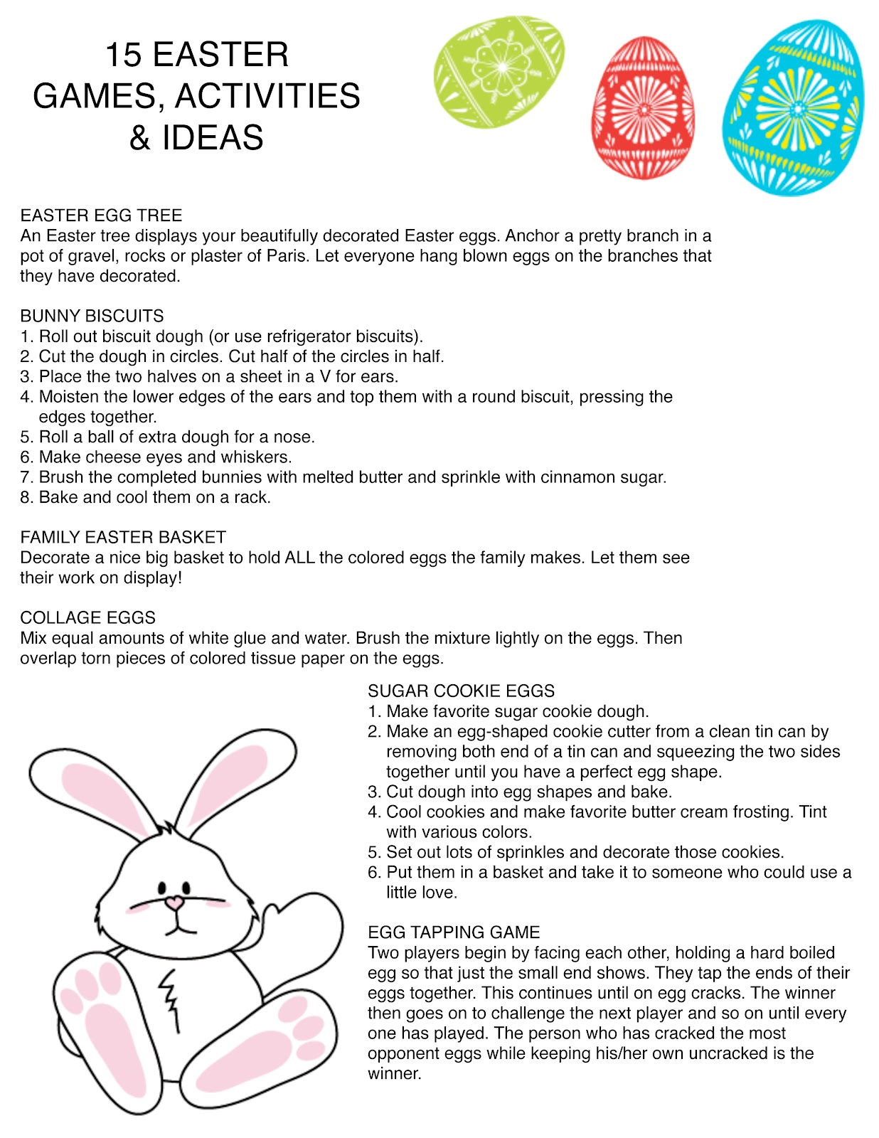 Just One Mom Trying 15 Easter Games Activities Ideas Printable