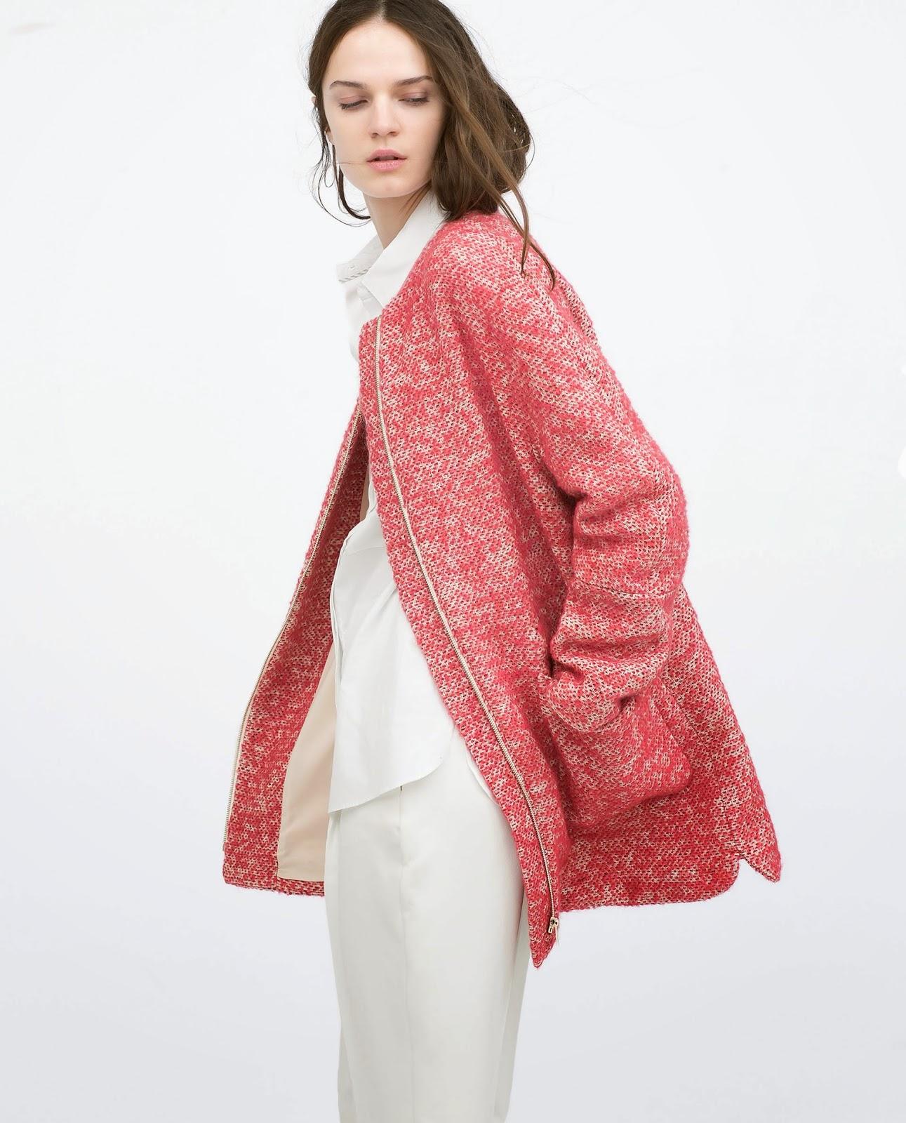 zara boucle coat, zara pink coat 2015, 2015 pink boucle coat,