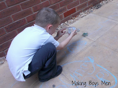 Super simple play with marbles from Making Boys Men