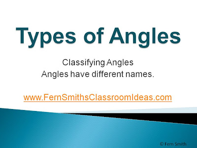 Fern Smith's FREE An Introduction to Angles PowerPoint