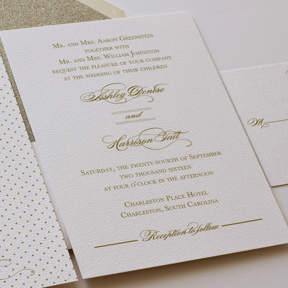 Gold Wedding Invitations | Blush Paperie
