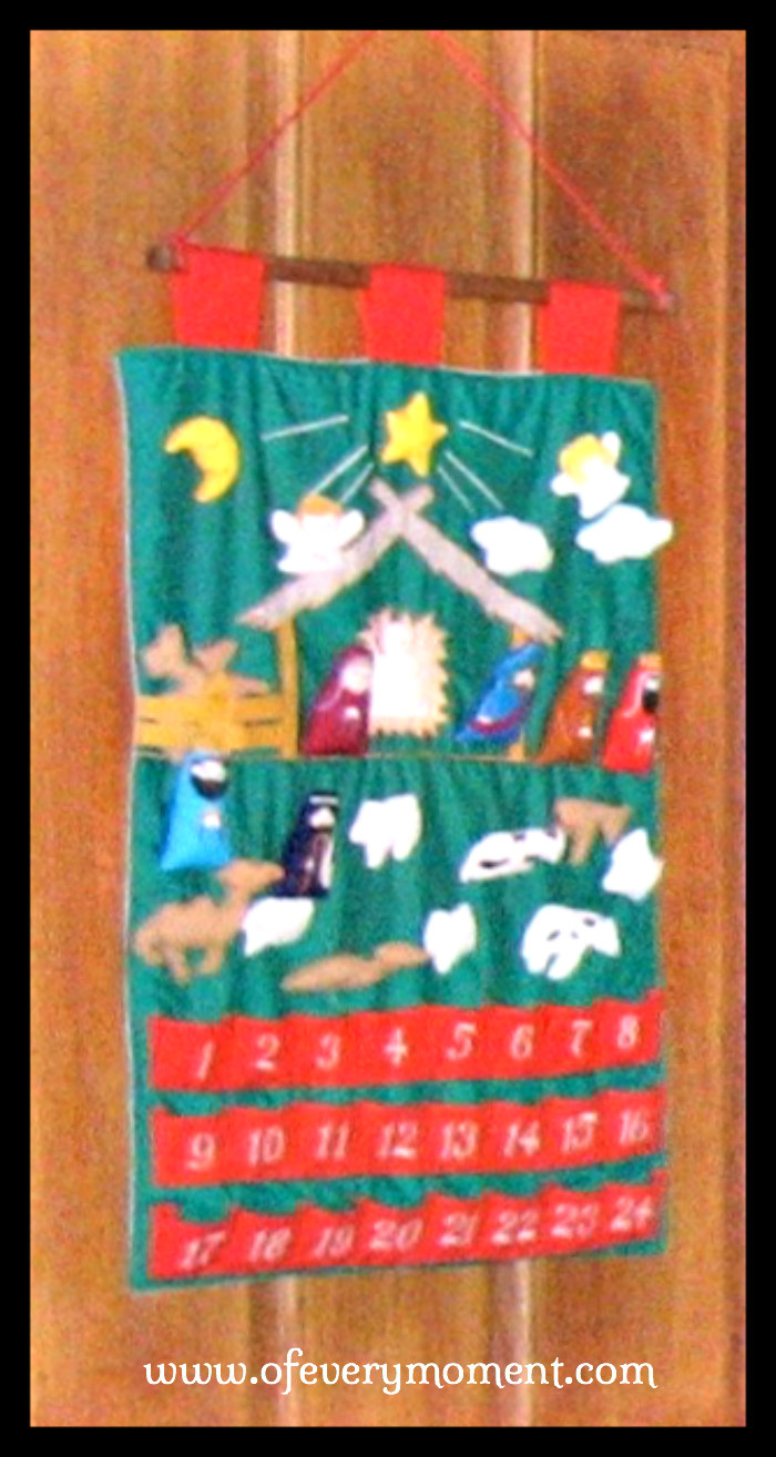 Advent Calendar wall hanging
