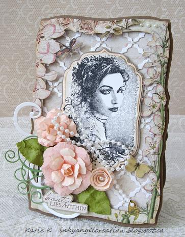 Inky Angel: Beauty Lies Within and Handmade Paper Rose Tutorial