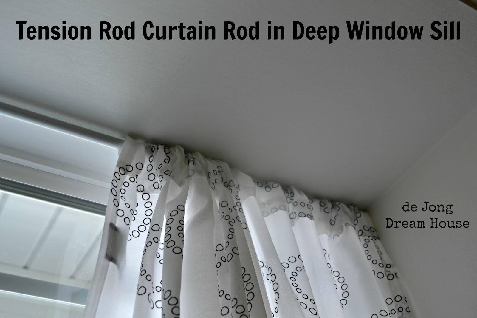 tension rod curtain