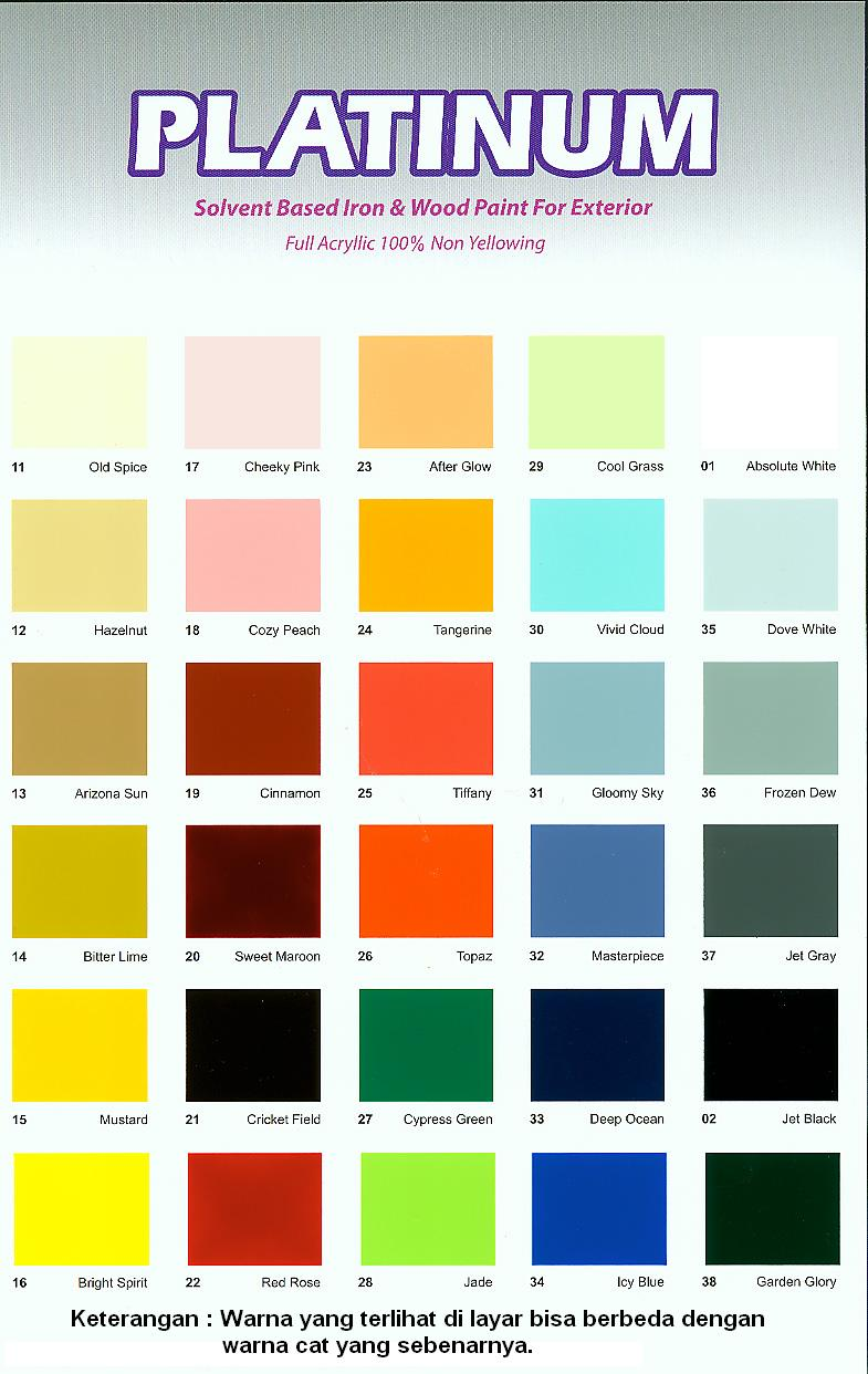 Katalog Warna Cat Tembok Vinilex