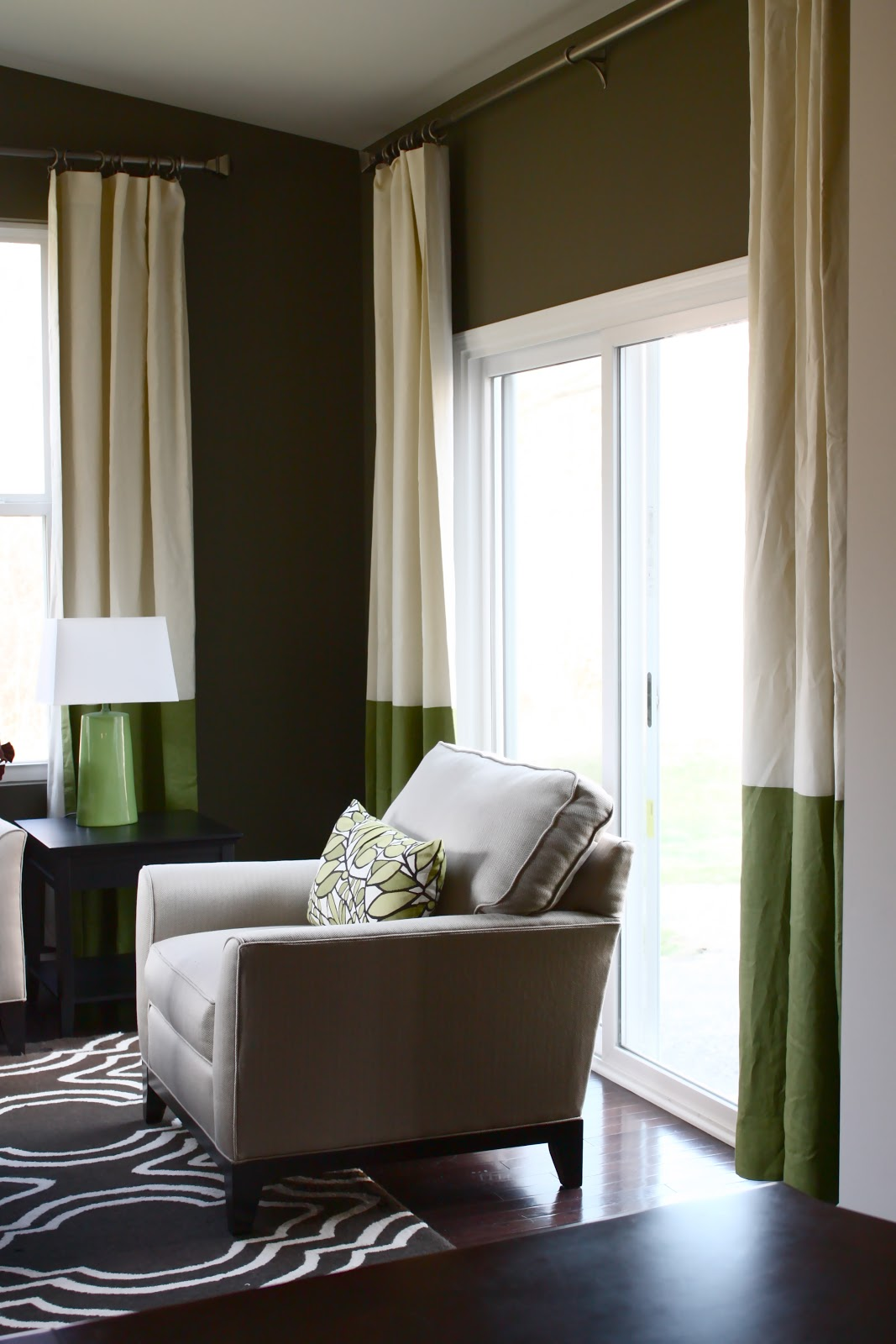The yellow cape cod client room reveal westin inspired for Sunroom curtains