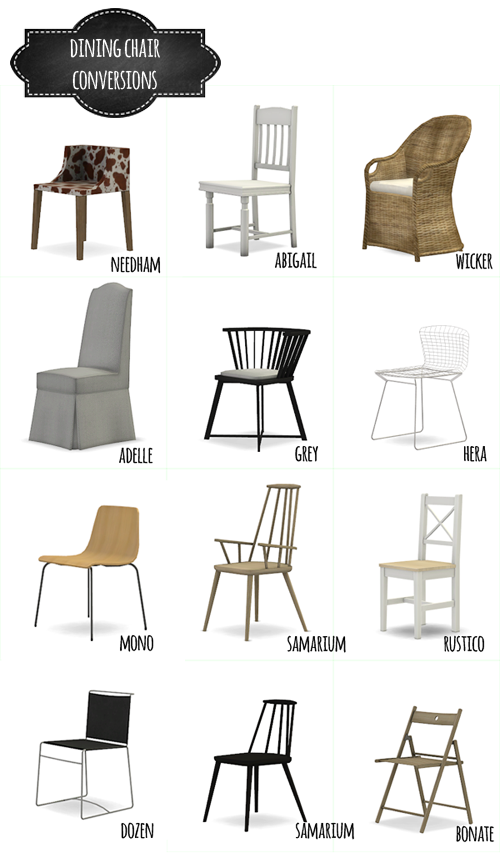 Dining Chair Conversions Mio Sims