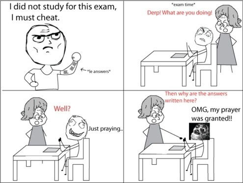 Epic Cheating - Exam Time