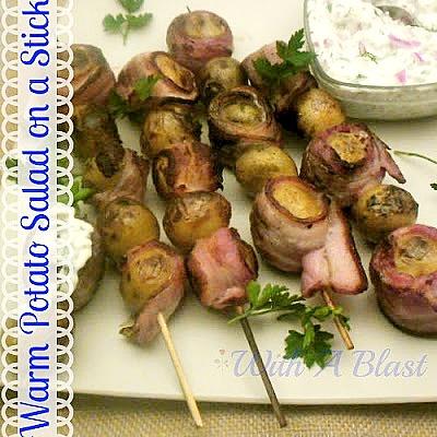 Warm Potato Salad On A Stick www.withablast.net