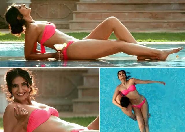 sexy Sonam Kapoor bikini