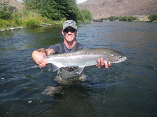 reports august steelhead fishing report deschutes river
