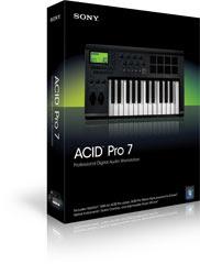 ACID pro 7, software para produção musical, produtores musicais, produzir musica eletrônica.