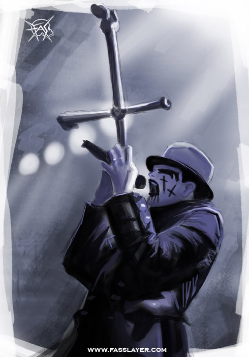 king diamond digital painting