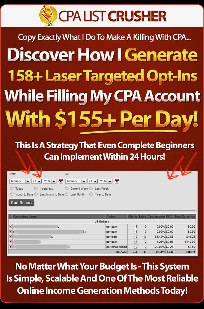 cpa list crusher bonuses