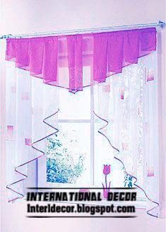 Purple Kitchen Curtain Small Design For Windows