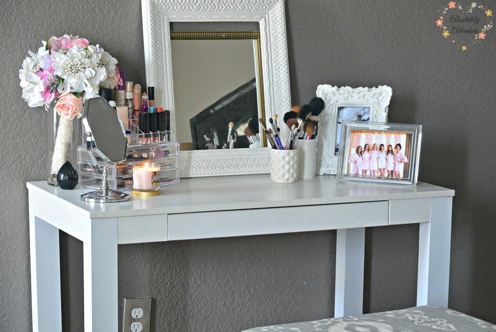 makeup vanity space