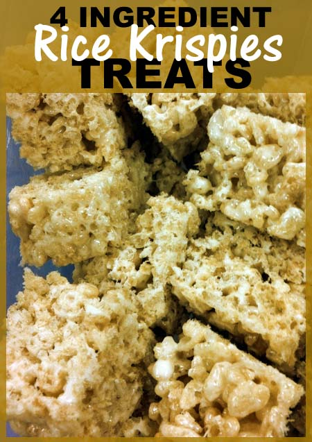 Plain Rice Crispy Treats. Made using only 4 ingredients (marshmallows, butter, vanilla extract and Kellogg's Rice Krispies). So easy and tasty.