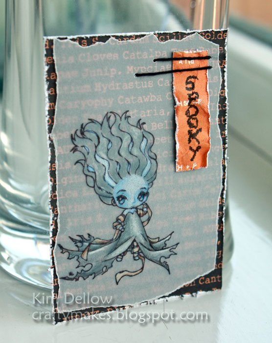 A Halloween ATC with a Make It crafty digi-stamp